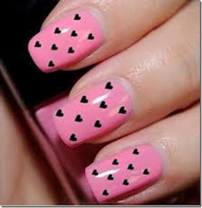 corazones ngreso decorando uñas acrilico