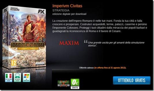 Imperium gratis fino al 31 agosto 2012