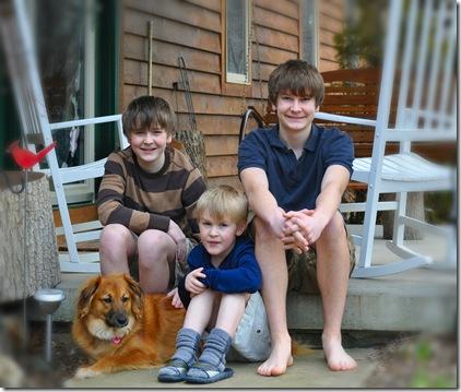 Boys on porch 1