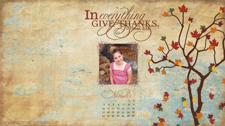 November 2013 desktop w photo