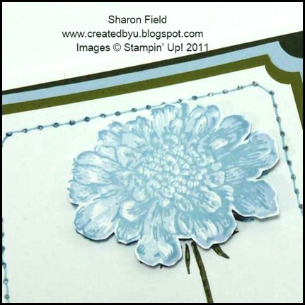 udi53, Sharon_Field, Field_Flowers, udi color challenges, createdbyu_blogspot, prairie_points, polkadot_ribbon, dimensionals