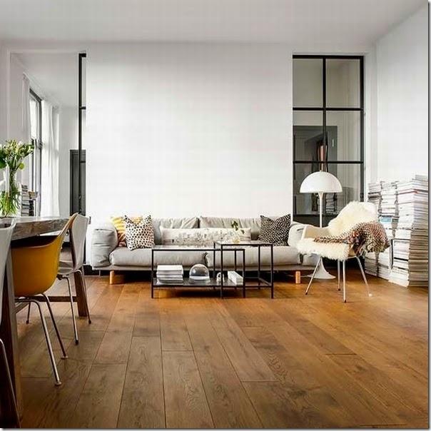 Semplicit e calore del legno case e interni for Foto interni di case moderne