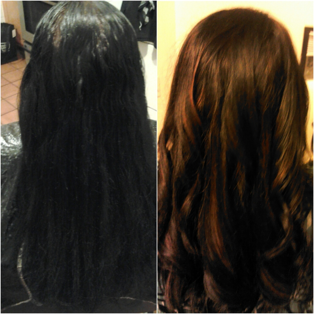 Healthy hair is beautiful hair before and after caramel before and after caramel highlights pmusecretfo Image collections