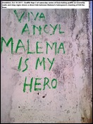 KILL THE BOER MALEMA IS MY HERO VREDEFORT FS GRAFFITI OCT 10 2011