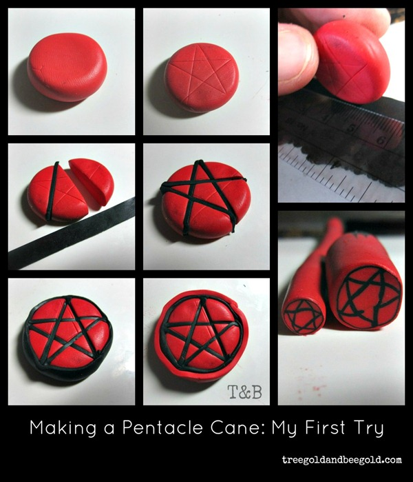 Treegold and Beegold: Pentacle Polymer Clay Tutorial