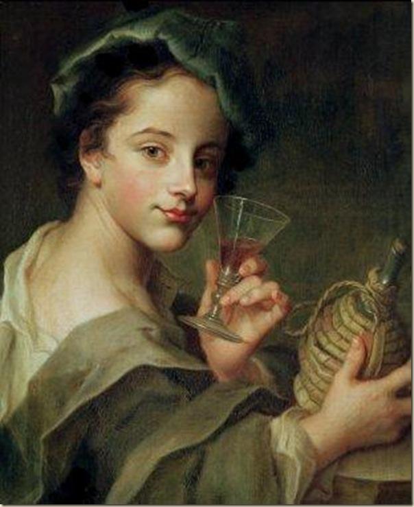 Philippe Mercier, Jeune homme au verre de vin