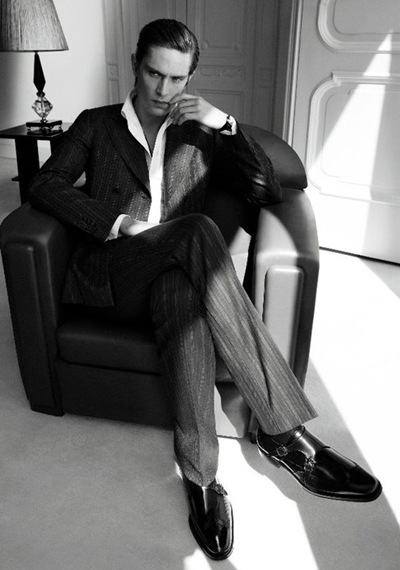 Mathias Lauridesen by Mikael Jansson for Salvatore Ferragamo, F/W 2011-12