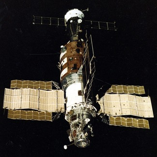 Salyut 7 Space Station designed & built by the Soviet Union [present day Russia, sort of]