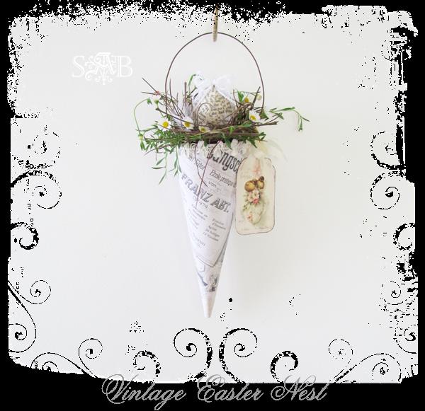 Shabby Art Boutique Vitnage Easter Nest