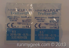 Test lentilles 1 day acuvue true eye