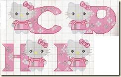 Punto Cruz Abecedário de Hello Kitty-C-D-H-I - Cópia (2)