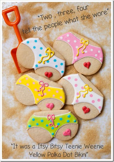 Bikini Tushie Cookies