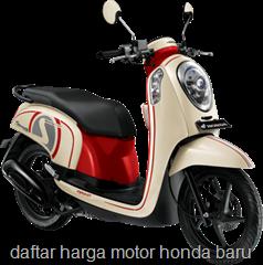 Daftar Harga Motor Honda Baru Oktober 2013