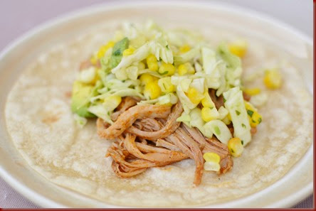 Enchilada Pork Tacos With Sweet Corn Slaw