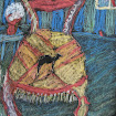 &quot;Camel Chair&quot; Foil/Oil Pastels