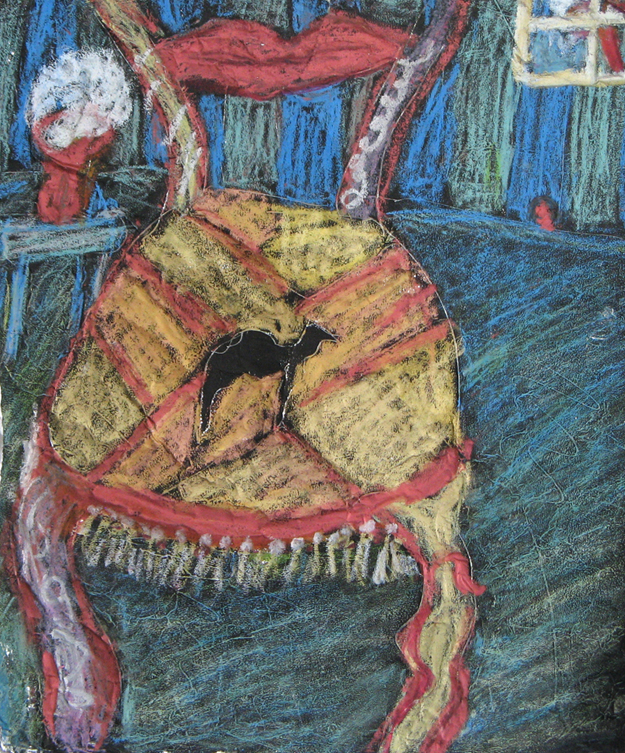 """Camel Chair"" Foil/Oil Pastels"