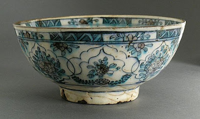 Bowl | Origin: Iran | Period: 18th-19th century | Collection: The Madina Collection of Islamic Art, gift of Camilla Chandler Frost (M.2002.1.219) | Type: Ceramic; Vessel, Fritware, underglaze-painted, Height: 3 9/16 in. (9.04 cm); Diameter: 7 7/8 in. (20 cm)