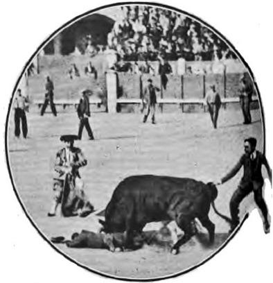 1909-06-17 (Los Toros) espectadores en el ruedo 02 Cogida de otro espectador