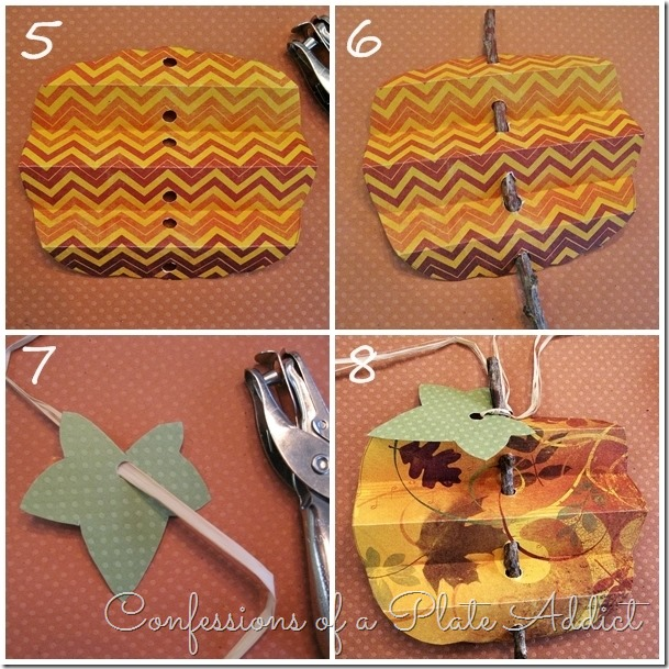 CONFESSIONS OF A PLATE ADDICT Pleated Paper Pumpkins Tutorial page 2
