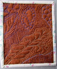 An example of free motion quilting.