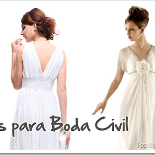 Vestidos de Novia para Boda Civil, Fotos y Diseños elegantes
