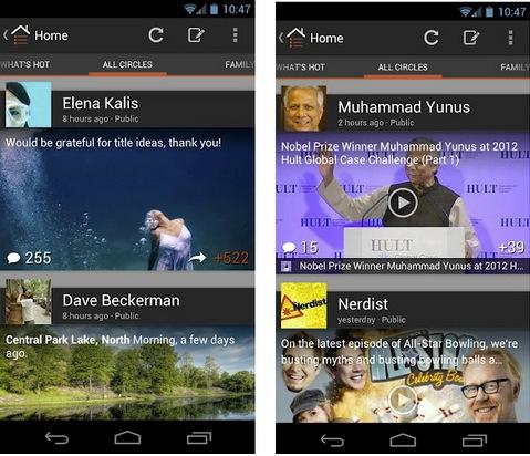 Google Plus para Android