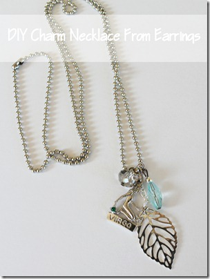 DIY Charm Necklace from Earrings from Setting for Four #diy #tutorial #charm #necklace #earring
