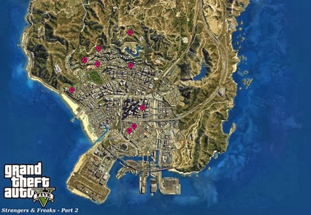 GTA V - Strangers & Freaks Locations Guide 03 b