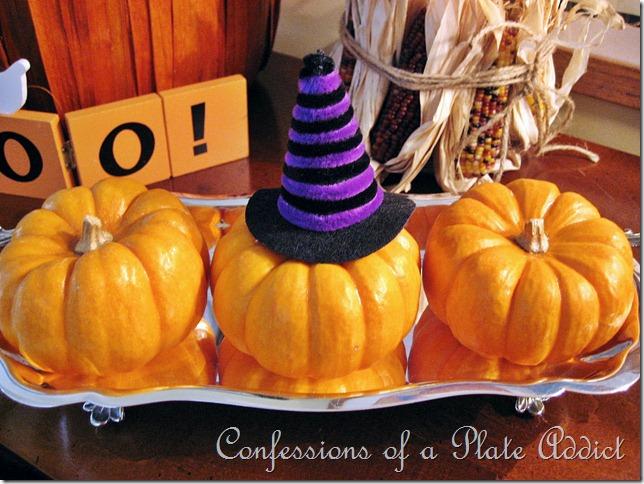Pumpkins with hat
