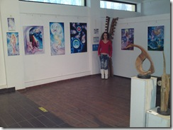 Corina Chirila la expoziria Univers Eminescian organizata de Asocitia Artistilor Plastici din Bucuresti