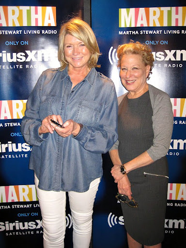 Martha tweeting about her interview with Bette.