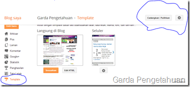 Cara Mengganti Password Blog di blogspot