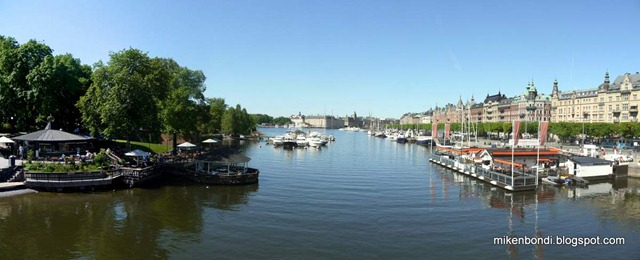 Looking west from the bridge to Djurgården (1)