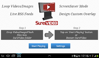 Screenshot of SureVideo Kiosk Video Looper
