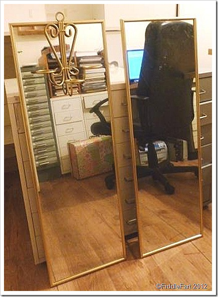 Bejewelled Bedroom Mirror Project