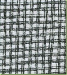 2.Gingham fabric - reverse side of fabric