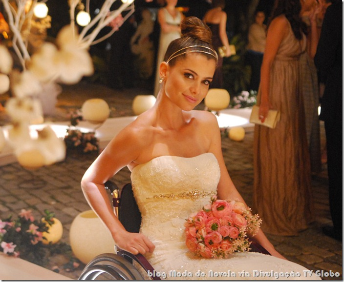 moda da novela viver a vida - vestido de noiva da luciana