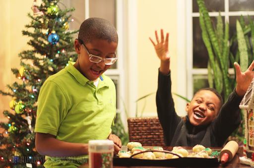 Christmas Cookies for Santa boy laughing 2014 152