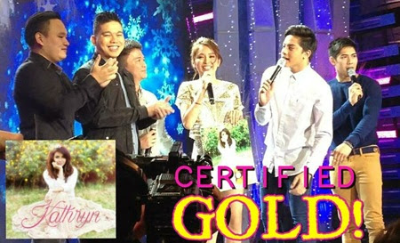 Kathryn Bernardo receives gold record award in ASAP 19