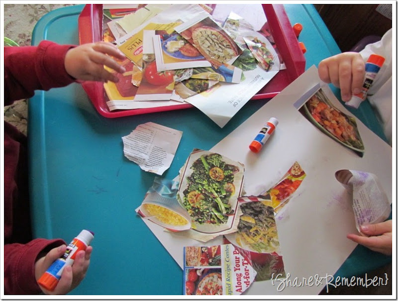 Make a Colorful Vegetable Collage