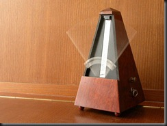 metronome mechanical wood