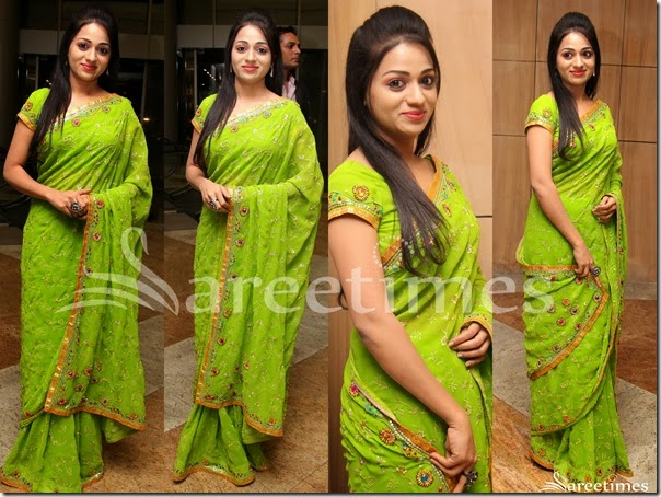 Reshma_Green_Embellished_Saree