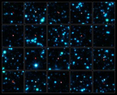 localização precisa de galáxias primordiais