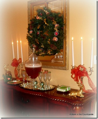 A Walk in the Countryside: Christmas Beverage Station