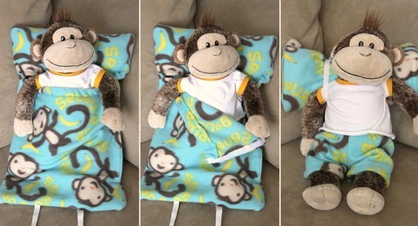 diy animal sleeping bag