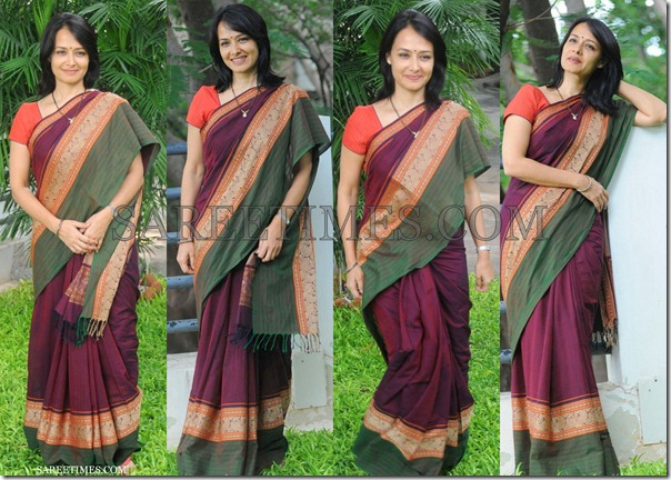 Amala_Magenta_Cotton_Saree