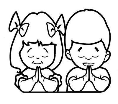 Dibujo niño orando para colorear - Imagui