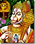 Hanuman thinking of Rama