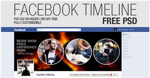 facebook timeline free psd