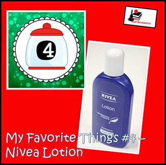 Favorite Things Blog Hop - Teacher Blogs - Nivea Lotion